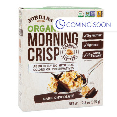 JORDANS ORGANIC DARK CHOCOLATE MORNING CRISP 12.5 OZ BOX