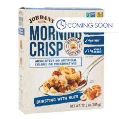 JORDANS ORGANIC BURSTING WITH NUTS MORNING CRISP 12.5 OZ BOX