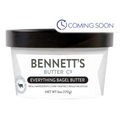 BENNETT'S BUTTER EVERYTHING BAGEL 6 OZ TUB