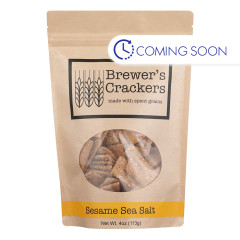 BREWER'S CRACKER'S SESAME SEA SALT 4 OZ POUCH
