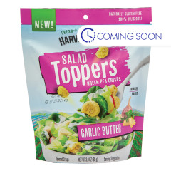 CALBEE HARVEST SNAPS GARLIC BUTTER SALAD TOPPER 3 OZ PEG BAG