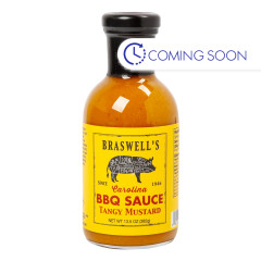 BRASWELLS TANGY MUSTARD BBQ SAUCE 13.5 OZ BOTTLE