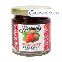 BRASWELLS MINI STRAWBERRY PRESERVES 5 OZ JAR
