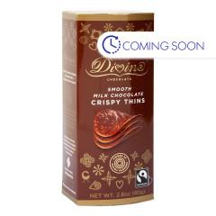 DIVINE MILK CHOCOLATE CRISPY THINS 2.8 OZ BOX