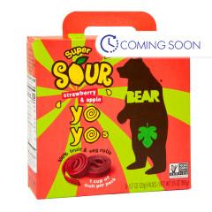 BEAR SOUR STRAWBERRY REAL FRUIT YOYOS (5 CT) 3.5 OZ