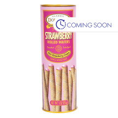 DOLCETTO STRAWBERRY WAFER ROLLS 3 OZ TUBE
