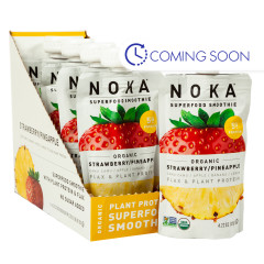 NOKA SUPERFOOD SMOOTHIE ORGANIC STRAWBERRY PINEAPPLE 4.22 OZ