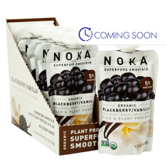 NOKA SUPERFOOD SMOOTHIE ORGANIC BLUEBERRY VANILLA 4.22 OZ
