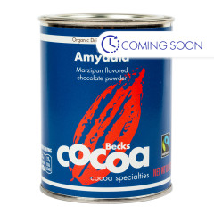 BECK'S COCOA ORGANIC AMYDALA MARZIPAN CHOCOLATE POWDER 8.8 OZ CAN