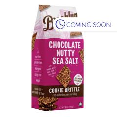 BROOKLYN BITES NUTTY CHOCOLATE SEA SALT COOKIE BRITTLE 6 OZ POUCH