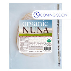 ORGANIC NUNA - SMOKED TURKY BREAST PRE - SLCED - 6OZ