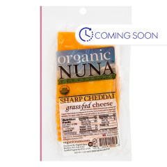 ORGANIC NUNA - SHARP CHEDDAR CHEESE PRE - SLICED - 5OZ