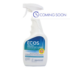 EARTH FRIENDLY ECOS ONE STEP DISINFECTANT 24 OZ SPRAY