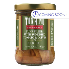 TONNINO TUNA WITH SUN DRIED TOMATO & OLIVES 6.3 OZ JAR