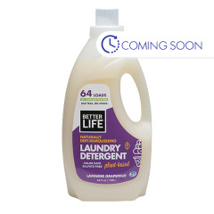 BETTER LIFE LAVENDER GRAPEFRUIT LAUNDRY DETERGENT 64 OZ BOTTLE