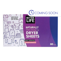 BETTER LIFE LAVENDER GRAPEFRUIT DRYER SHEETS 80 CT BOX