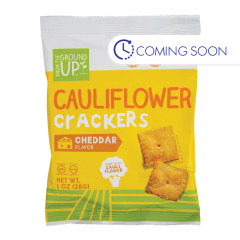 FROM THE GROUND UP CAULIFLOWER CHEDDAR CRACKERS 1 OZ POUCH