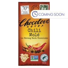 CHOCOLOVE CHILI MOLE 33% DARK 3.2 OZ BAR