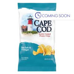 CAPE COD - SEA SALT/VINEGAR POTATO CHIPS - 5OZ