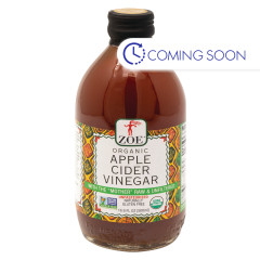 ZOE - ORGANIC APPLE CIDER VINEGAR WITH MOTHR - 17OZ