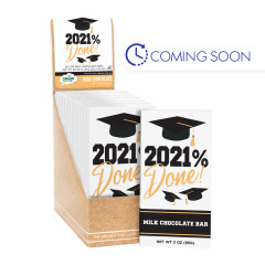 CLEVER CANDY GRAD 2021 DONE MILK CHOCOLATE 3 OZ BAR