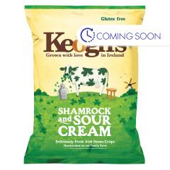 KEOGH'S IRISH POTATO CRISPS SHAMROCK & SOUR CREAM 1.76 OZ