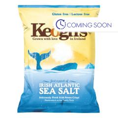 KEOGH'S  IRISH POTATO CRISPS ATLANTIC SEA SALT 1.76 OZ BAG