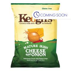KEOGH'S IRISH POTATO CRISPS CHEESE & ONION 1.76 OZ BAG
