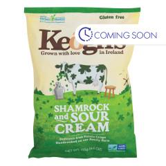 KEOGH'S  IRISH POTATO CRISPS SHAMROCK & SOUR CREAM 4.4 OZ BAG