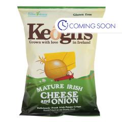 KEOGH'S  IRISH POTATO CRISPS CHEESE & ONION 4.4 OZ BAG