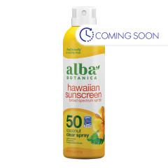ALBA BOTANICA HAWAII COCONUT CLEAR SUNSCREEN SPF 50 6 OZ SPRAY