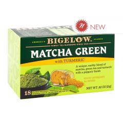 BIGELOW MATCHA GREEN TEA WITH TURMERIC 18 CT BOX