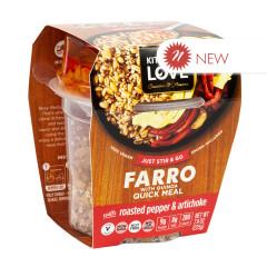 KITCHEN & LOVE READY TO EAT FARRO ROASTED PEPPER & ARTICHOKE 7.9 OZ