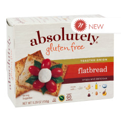 ABSOLUTELY GLUTEN FREE ONION FLATBREAD 5.29 OZ BOX