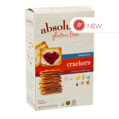 ABSOLUTELY GLUTEN FREE ORIGINAL CRACKERS 4.4 OZ BOX