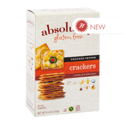 ABSOLUTELY GLUTEN FREE PEPPER CRACKERS 4.4 OZ BOX