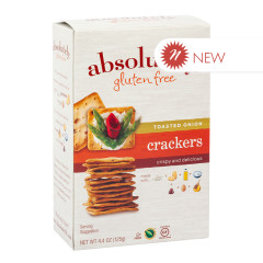 ABSOLUTELY GLUTEN FREE ONION CRACKERS 4.4 OZ BOX