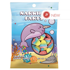 AMUSEMINTS NARWHAL FARTS 5 OZ PEG BAG