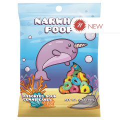 AMUSEMINTS NARWHAL POOP 5 OZ PEG BAG