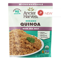 ANCIENT HARVEST MICROWAVABLE ORGANIC QUINOA WITH SEA SALT 8 OZ POUCH