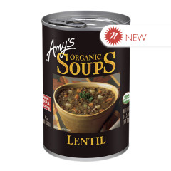 AMY'S ORGANIC LENTIL SOUP 14.5 OZ CAN
