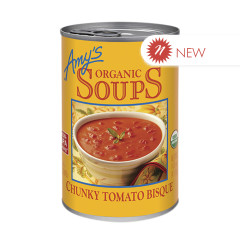 AMY'S ORGANIC CHUNKY TOMATO BISQUE SOUP 14.5 OZ CAN