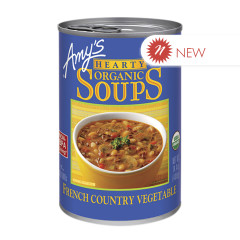 AMY'S ORGANIC HEARTY FRENCH COUNTRY VEGETABLE SOUP 14.4 OZ CAN
