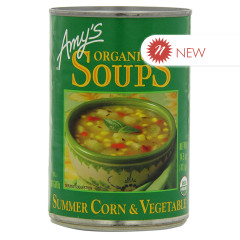 AMY'S ORGANIC SUMMER CORN & VEGETABLE SOUP 14.5 OZ CAN