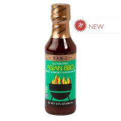SAN J ASIAN BBQ SAUCE SWEET & SMOKY FUSION 10 OZ BOTTLE
