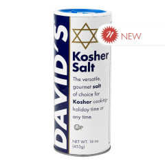DAVID'S KOSHER SALT 16 OZ CANISTER