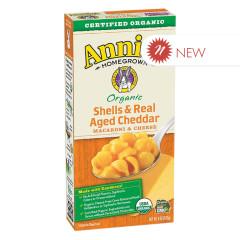 ANNIE'S ORGANIC AGED CHEDDAR MACARONI & CHEESE 6 OZ BOX