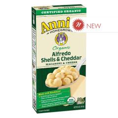 ANNIE'S ORGANIC ALFREDO SHELLS & CHEDDAR MAC & CHEESE 6 OZ BOX