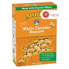 ANNIE'S BAKED WHITE CHEDDAR CRACKERS 7.5 OZ BOX