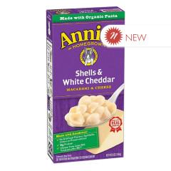 ANNIE'S ORGANIC SHELLS & WHITE CHEDDAR MAC & CHEESE 6 OZ BOX